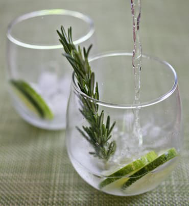 Cucumber and Rosemary Gin and Tonic